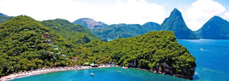 Aerial View of Anse Chastanet Resort
