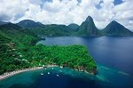 Anse Chastanet Resort Aerial Shot Pitons