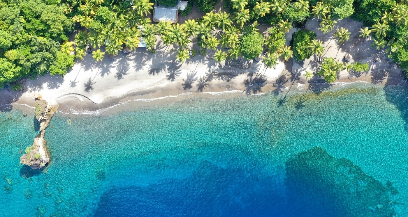 Anse Mamin Beach Aerial