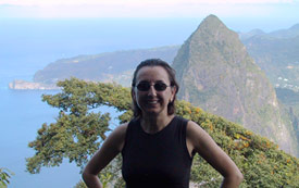 Karolin on Pitons