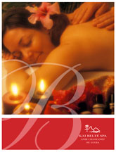 Spa Menu Cover